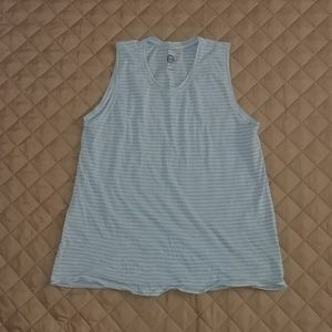 SO blue white striped sleeveless muscle tank small